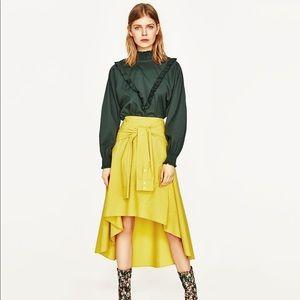 NWT s Mustard Zara Skirt